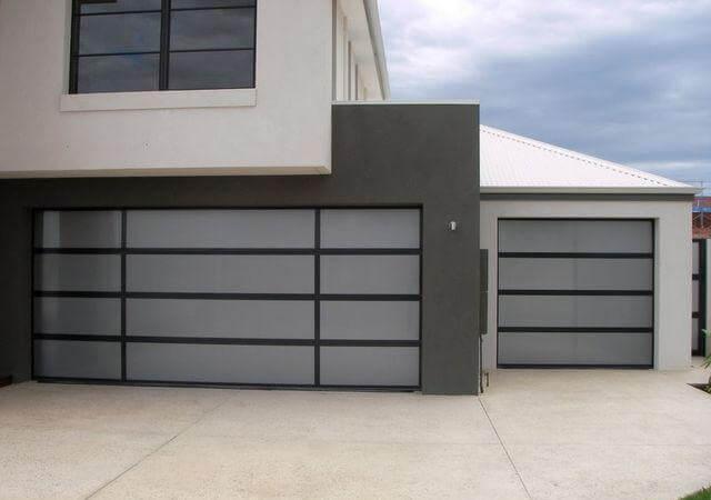 Double Custom Aluminium Sectionals with Acrylic Inserts
