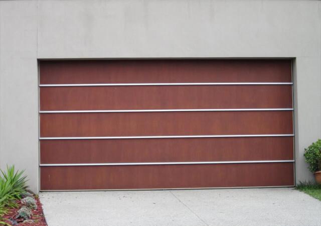 Custom Ply and Aluminium Tilt Panel Door
