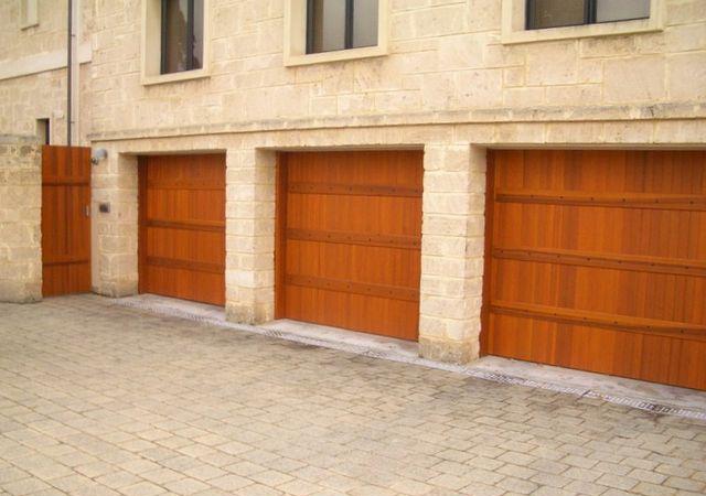 Three Identical Timber Look Barn Doors