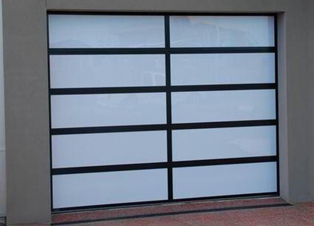 Custom Aluminium and Acrylic Sectional Garage Door