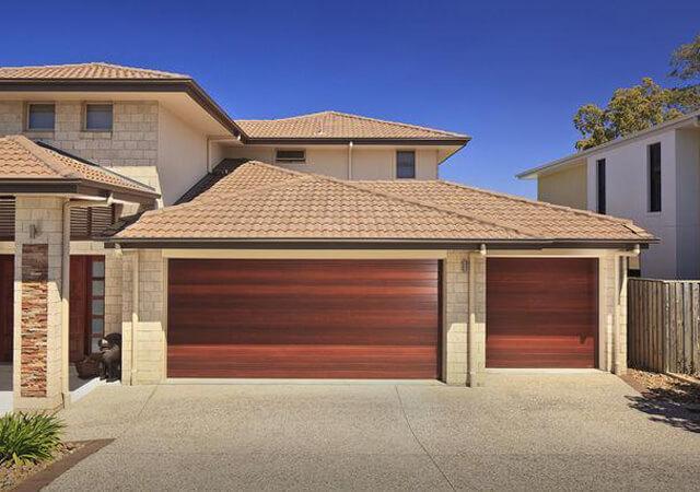 Timber Effect Grange Sectional Garage Doors