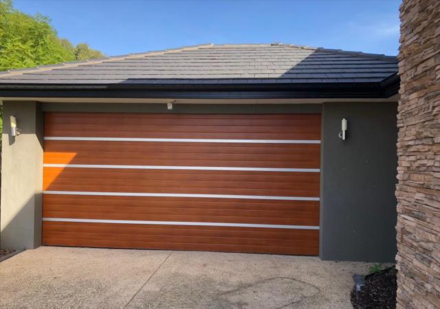 Timber Look Door with Aluminium Inserts